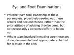 eye and foot examinations