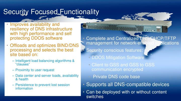 Security Focused Functionality