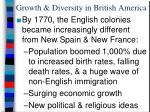 growth diversity in british america