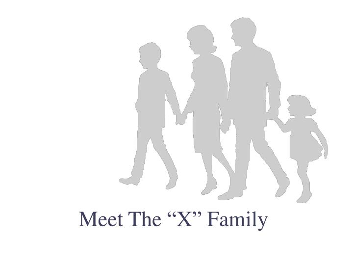 "Meet The ""X"" Family"