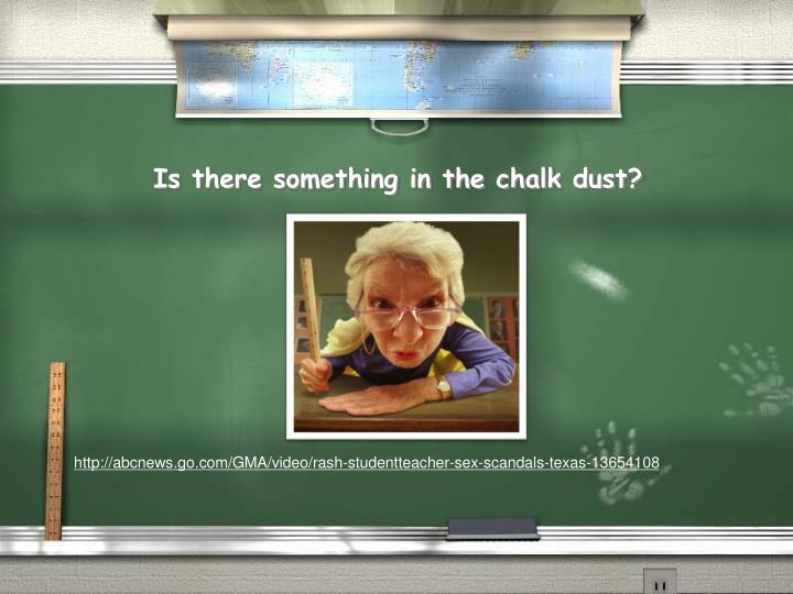 Is there something in the chalk dust