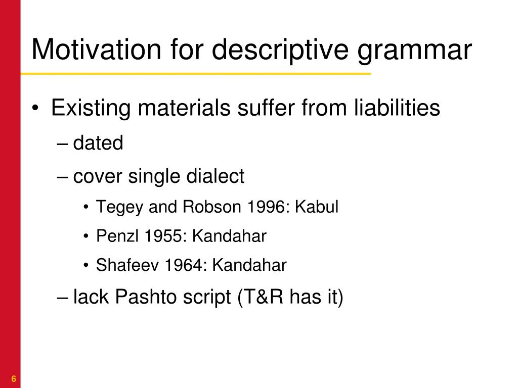 PPT - Creating a dual-use pandialectal Pashto grammar AF-PAK
