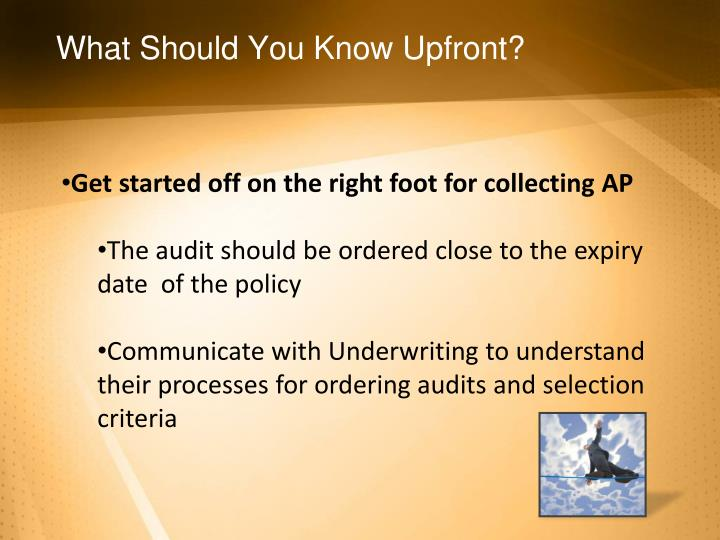 What should you know upfront