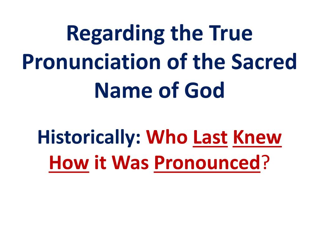 PPT - The Sacred Name YHVH PowerPoint Presentation - ID:2093785