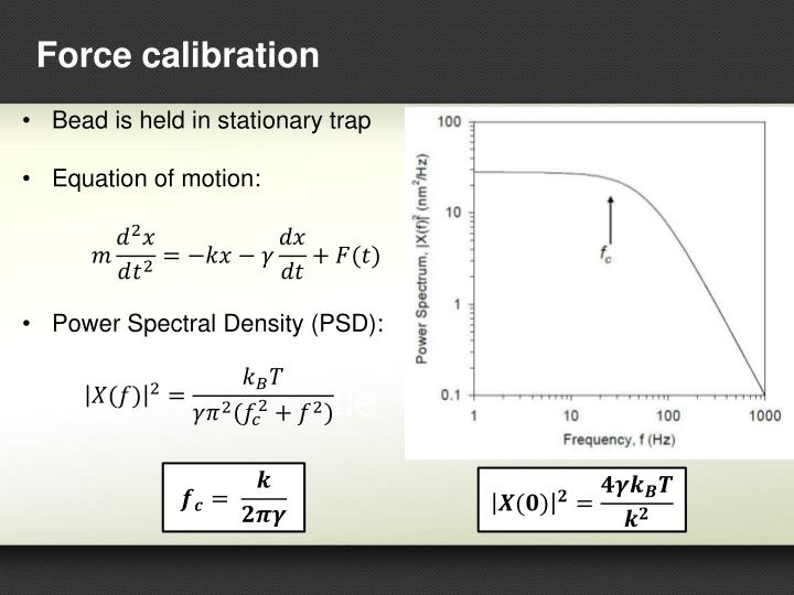 Force calibration