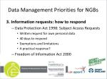 data management priorities for ngbs3