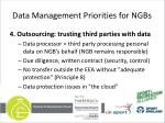 data management priorities for ngbs4