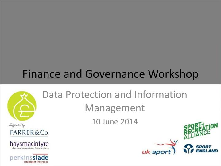 finance and governance workshop n.