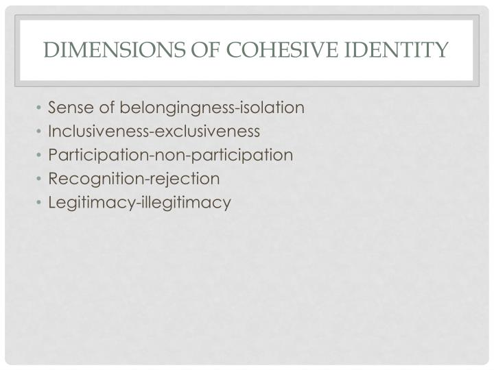 Dimensions of Cohesive Identity