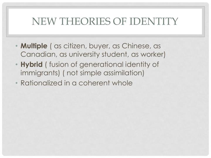 New Theories of Identity