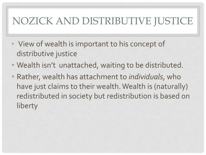 Nozick and Distributive Justice