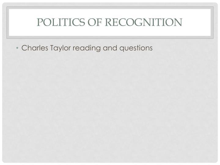 Politics of Recognition
