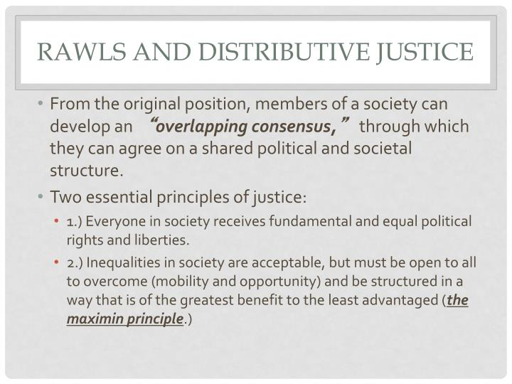 Rawls and Distributive Justice