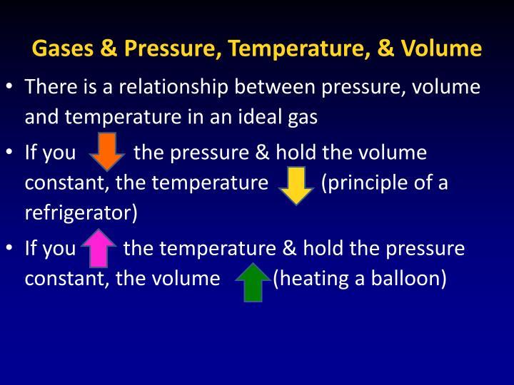 Gases & Pressure, Temperature, & Volume
