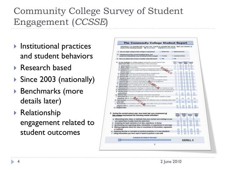 Community College Survey of Student Engagement (