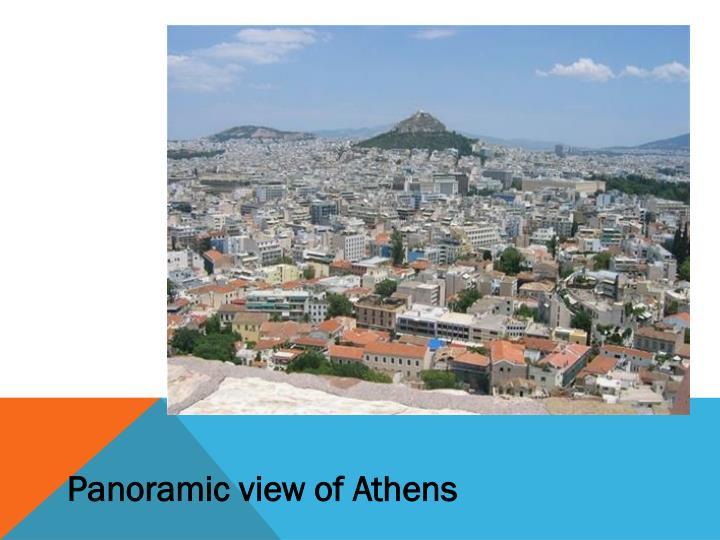 Panoramic view of Athens