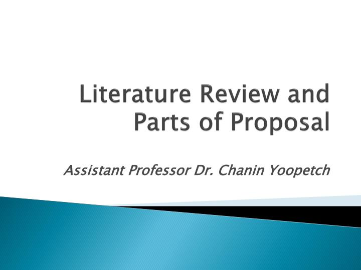 role of literature review in research proposal When conducting research, a literature review is an essential part of the project because it covers all previous research done on the topic and sets the platform on which the current research is based no new research can be taken seriously without first reviewing the previous research done on the.