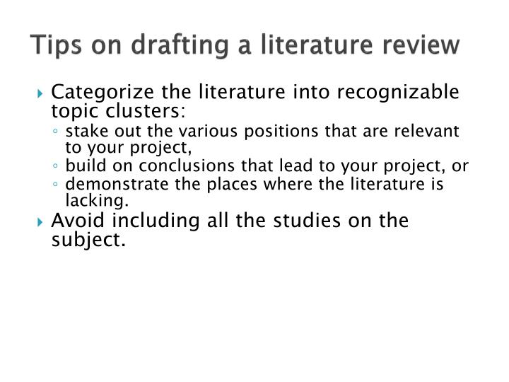 tips for writing a literature review Literature review writing guide, structure, examples and tips for writers on essaybasicscom.