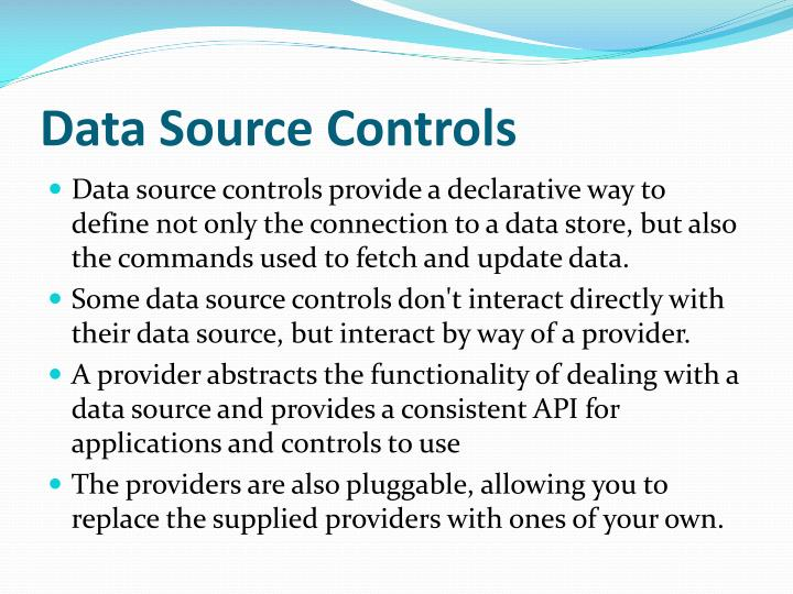 Data Source Controls