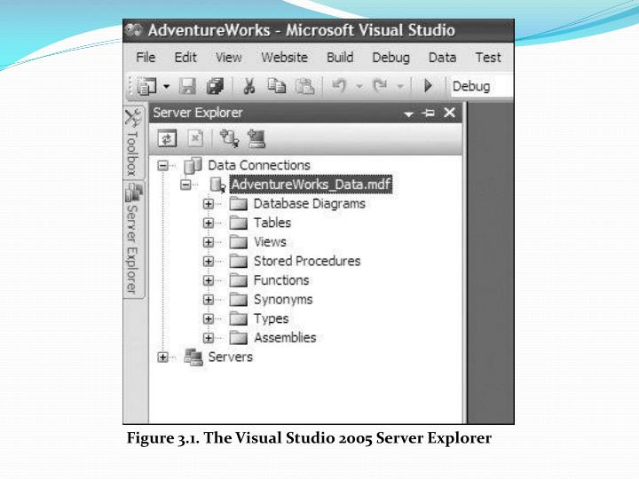 Figure 3.1. The Visual Studio 2005 Server Explorer