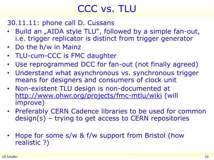 CCC vs. TLU