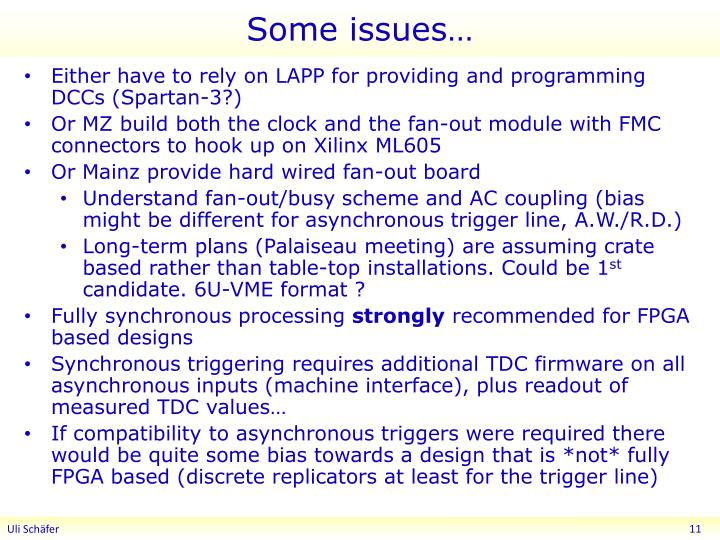 Some issues…