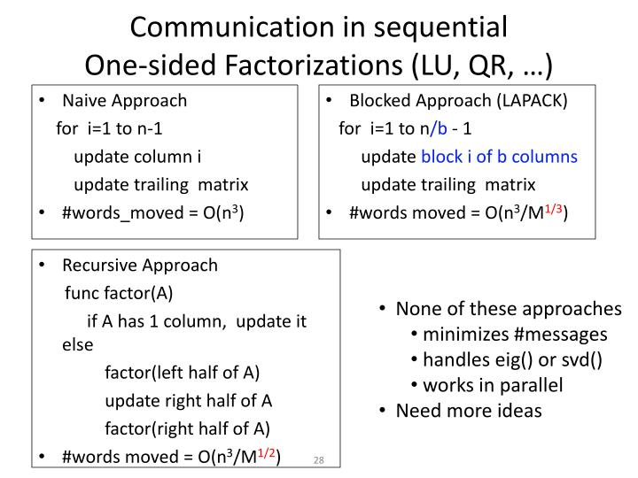 Communication in sequential