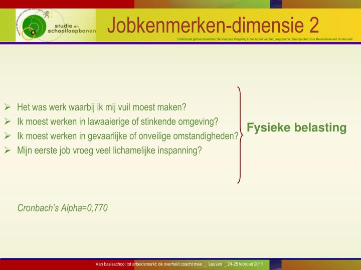 Jobkenmerken-dimensie 2