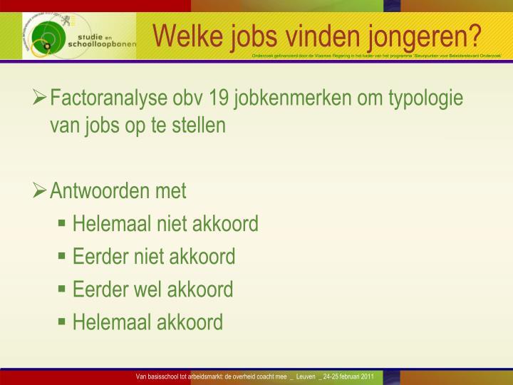 Welke jobs vinden jongeren?