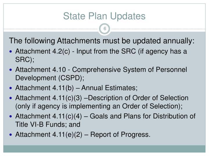 State Plan Updates