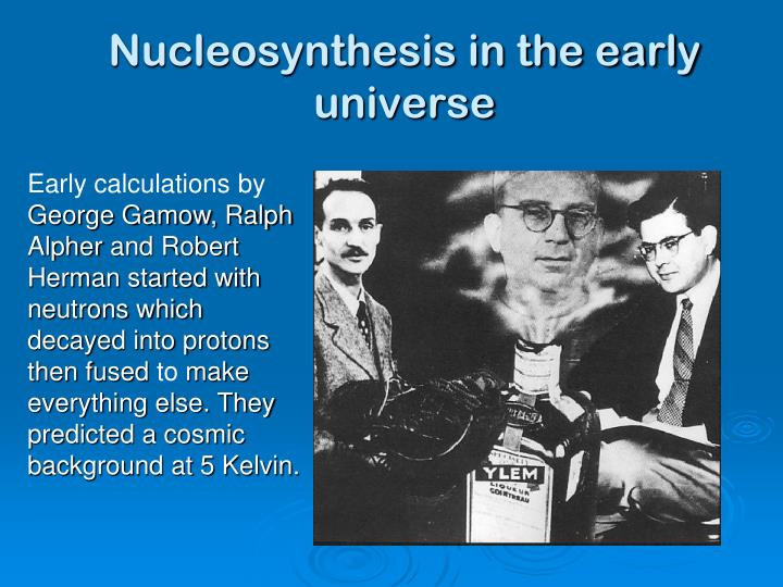 Nucleosynthesis in the early