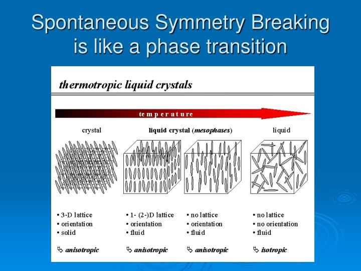 Spontaneous Symmetry Breaking is like a phase transition