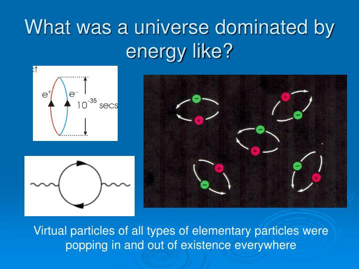 What was a universe dominated by energy like?