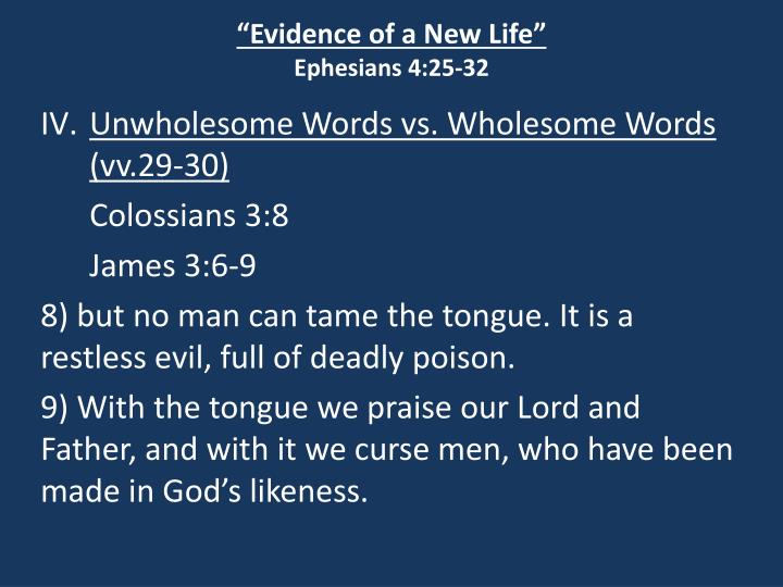 """""""Evidence of a New Life"""""""
