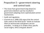 proposition 5 government steering and control tools
