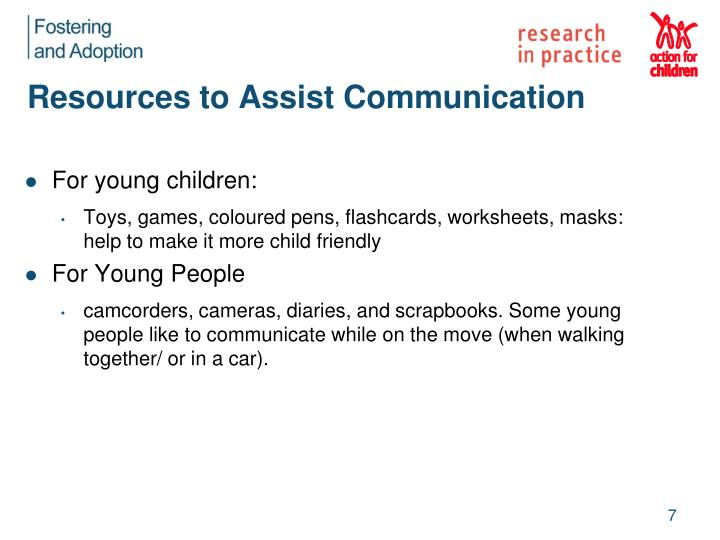 Resources to Assist Communication