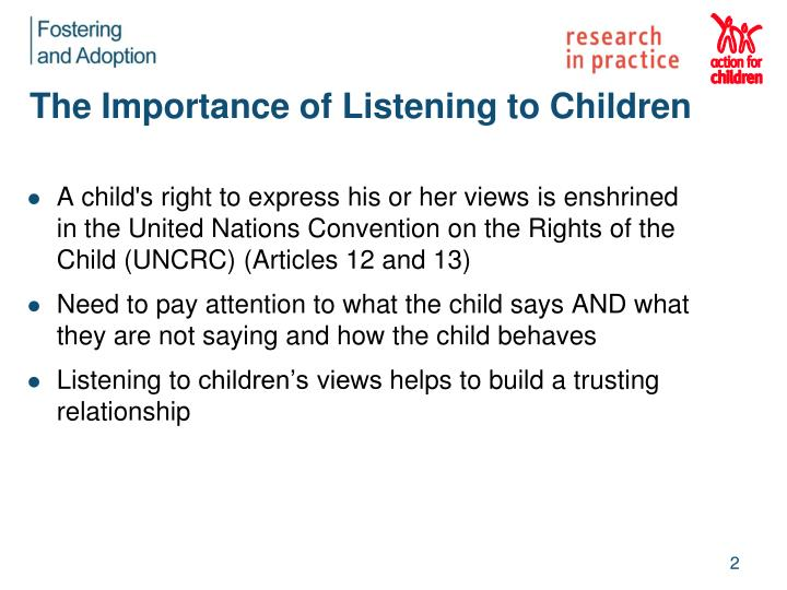 The importance of listening to children