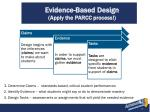 evidence based design apply the parcc process