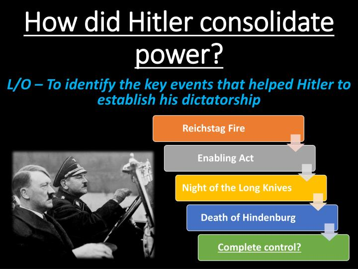 how did hitler consolidated his power