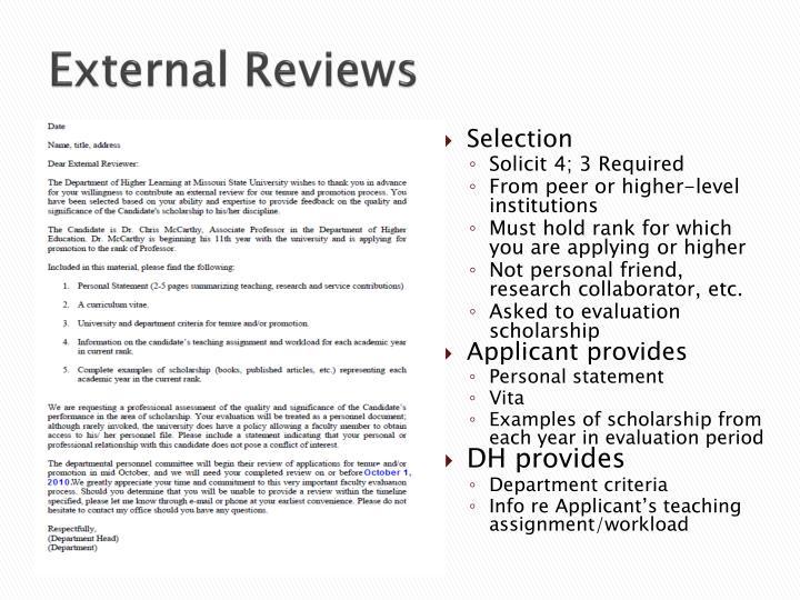 External Reviews