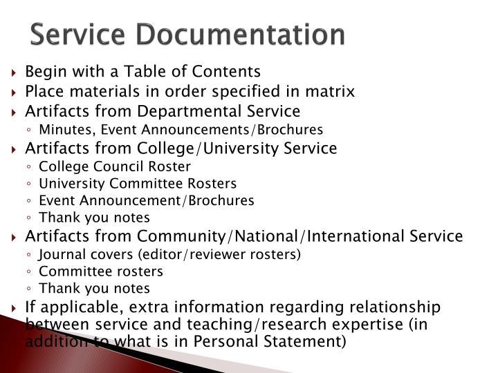 Service Documentation