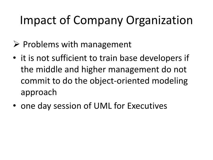 Impact of Company Organization