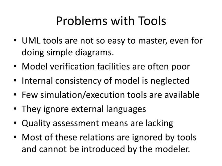Problems with Tools