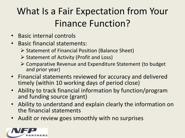 What Is a Fair Expectation from Your Finance Function?