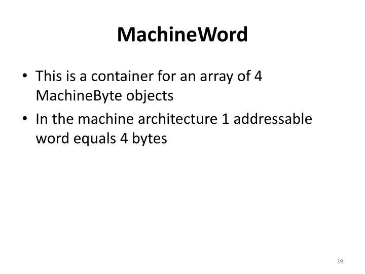 MachineWord