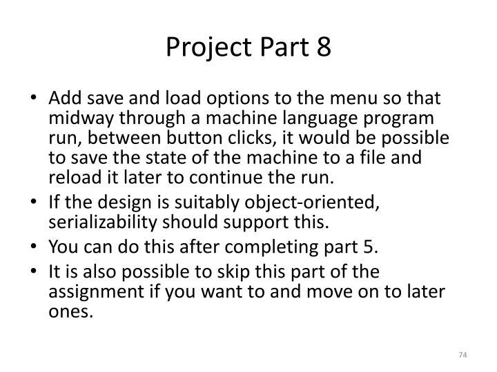 Project Part 8