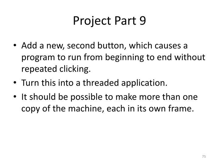 Project Part 9