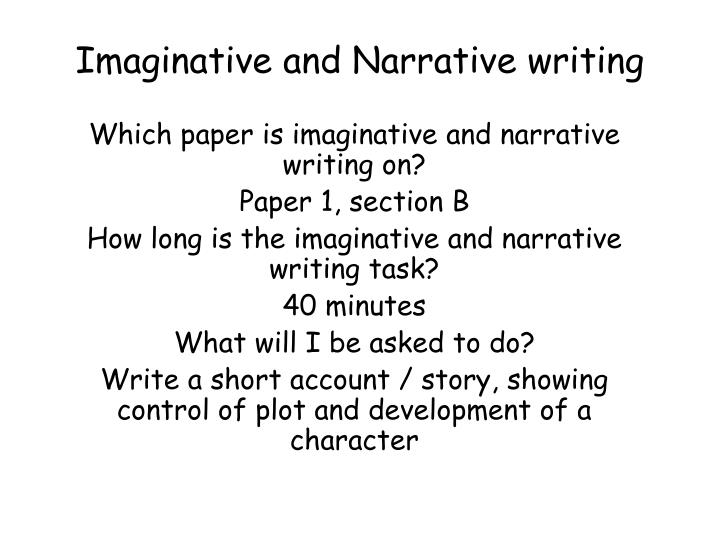 narrative and assignment narrators answer The language of narration descriptive language / aesthetic language narration literally means to tell a story plot, setting & characterization = 3 key elements descriptive language creates a clear picture in your mind of what is being described.