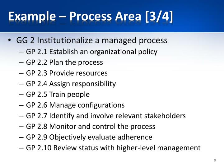 Example – Process Area [3/4]