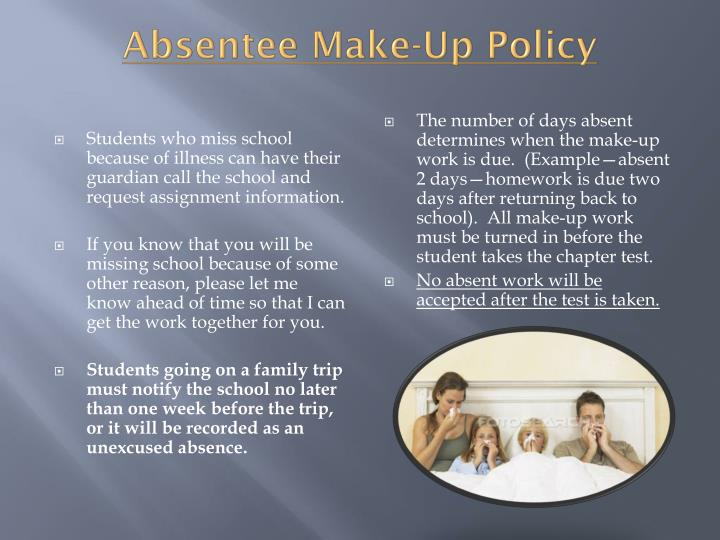 Absentee Make-Up Policy